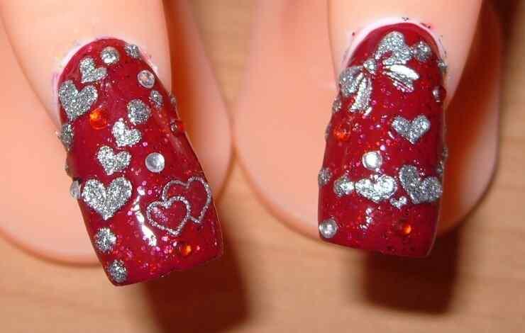 Uñas de San Valentín mas de 70 diseños espectaculares 27