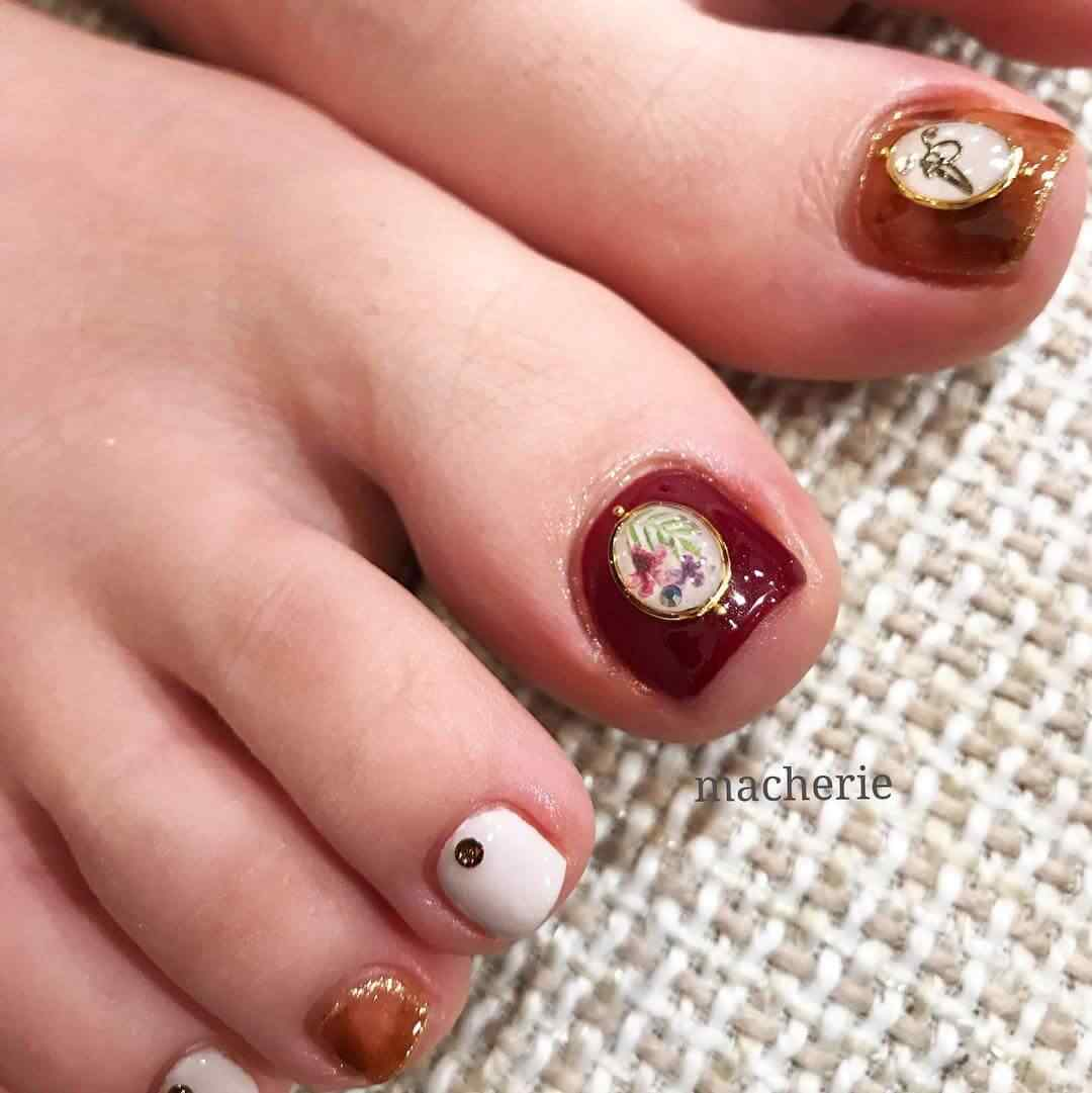 uñas del pie para boda