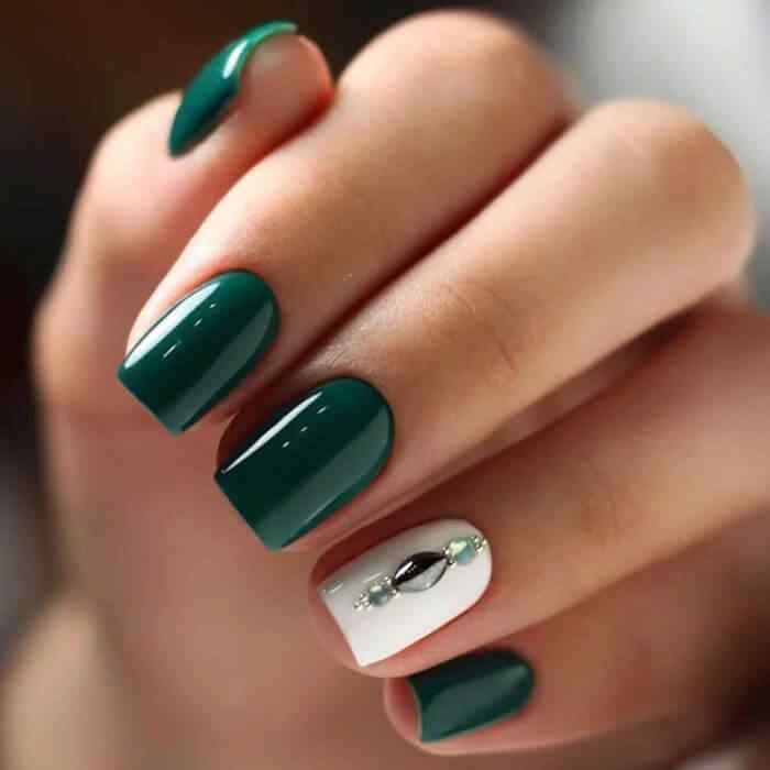 uñas para boda color verde