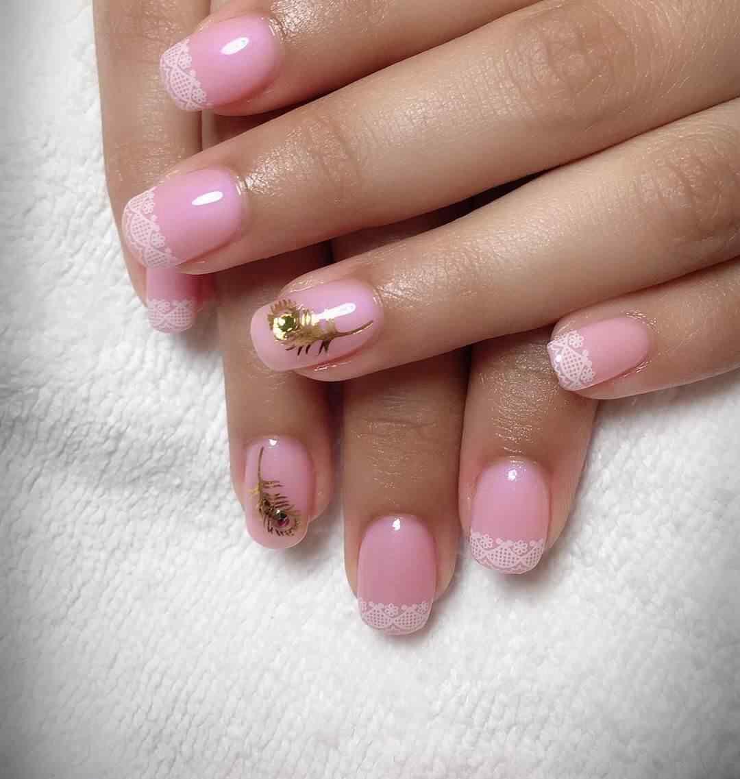 uñas para novias rosa con blanco