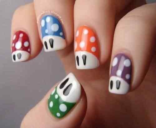 Decorar uñas con periódico MUY FACIL (Uñas decoradas