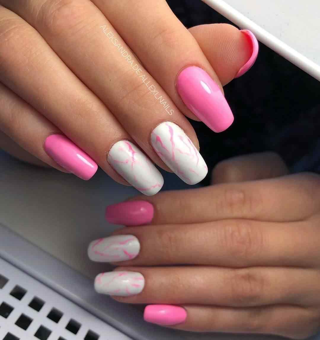 uñas rosadas para novia