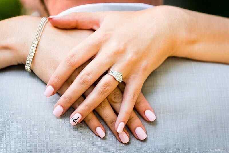 uñas si acepto para novia