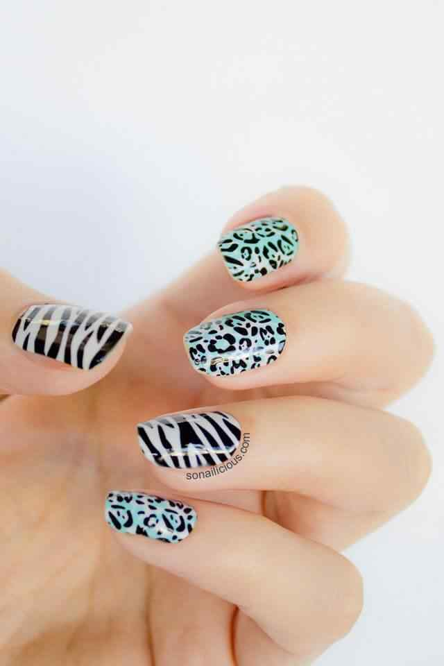 animal print nails images (10)