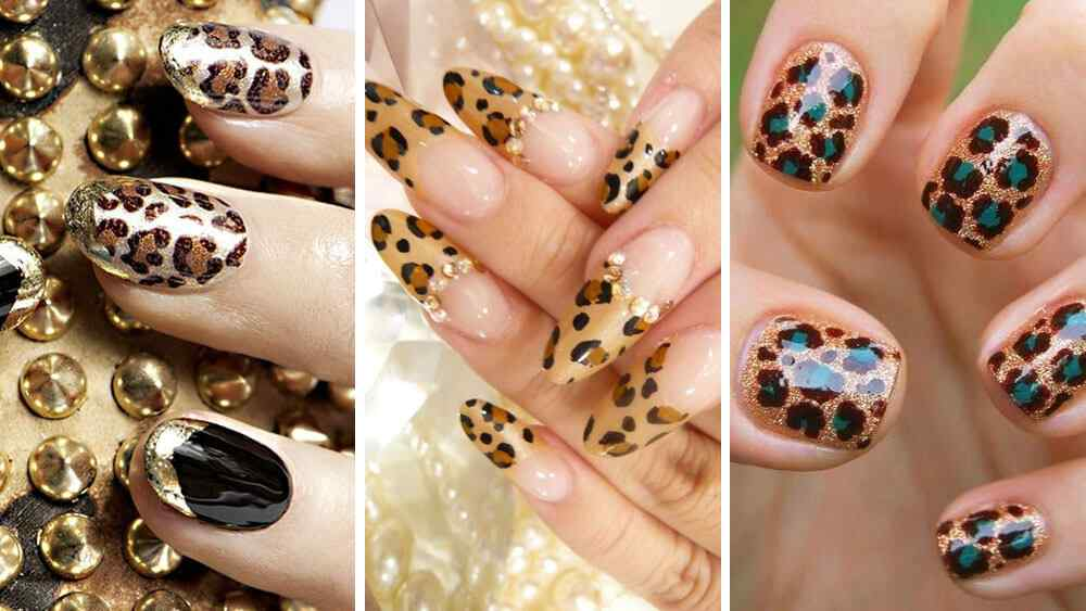 ideas de uñas animal print