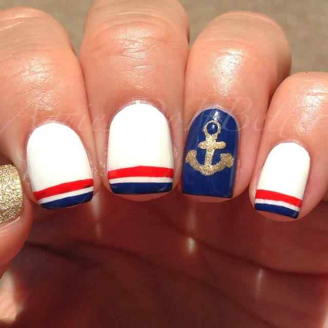 Uñas Nauticas, mas de 40 ejemplos - Nautical Nails 3