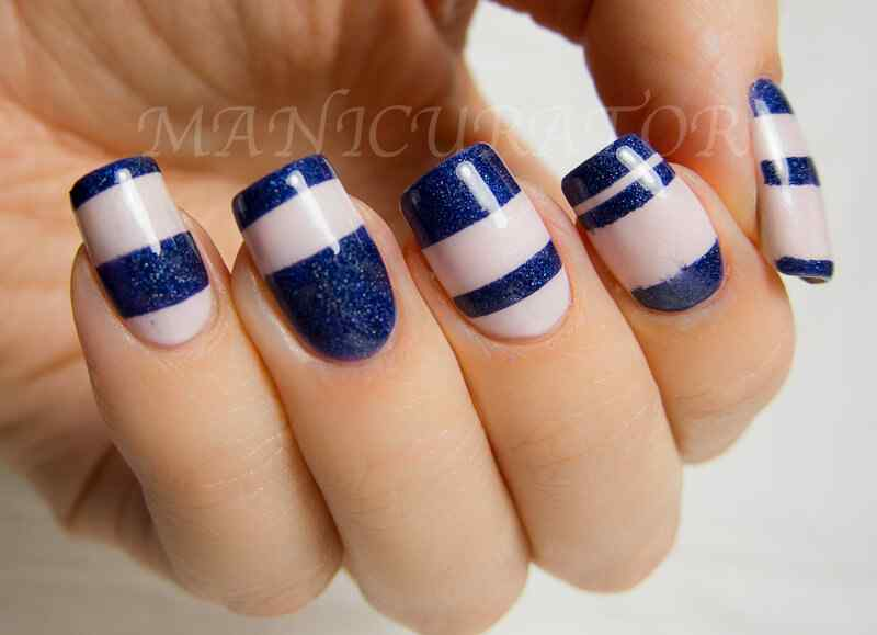 Nail art designs blue color as well as acrylic nail design further