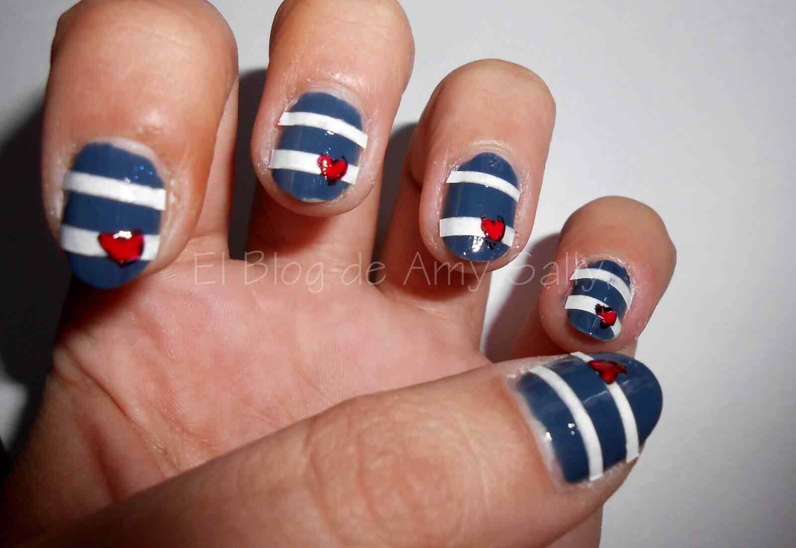 Uñas Nauticas, mas de 40 ejemplos - Nautical Nails 26