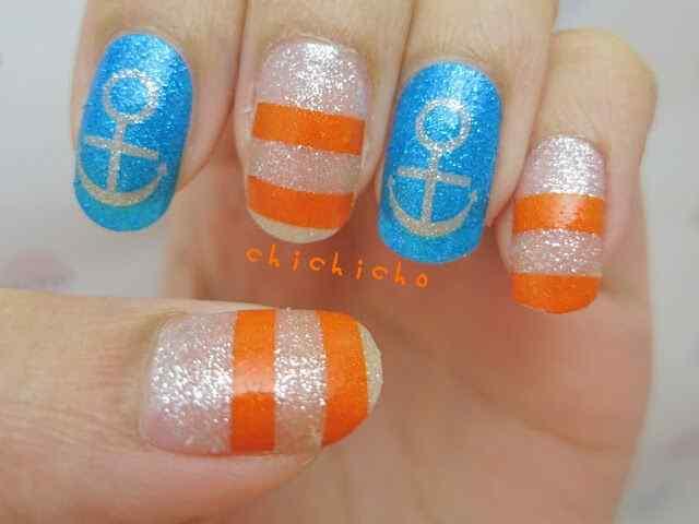 Uñas Nauticas, mas de 40 ejemplos - Nautical Nails 35