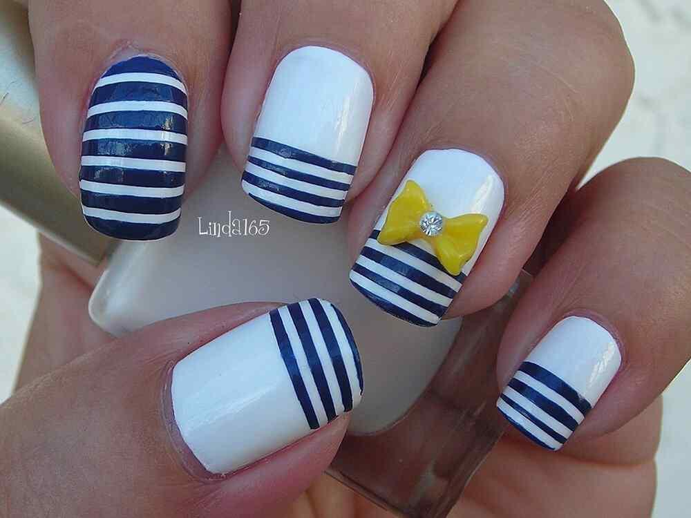 Uñas Nauticas, mas de 40 ejemplos - Nautical Nails 36