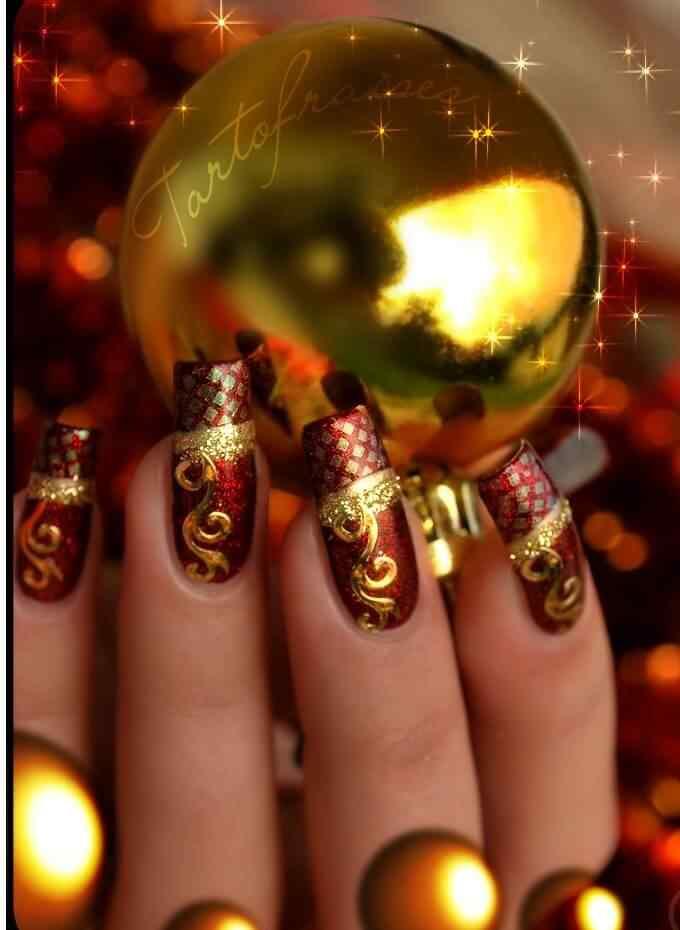 Unas de navidad (2)