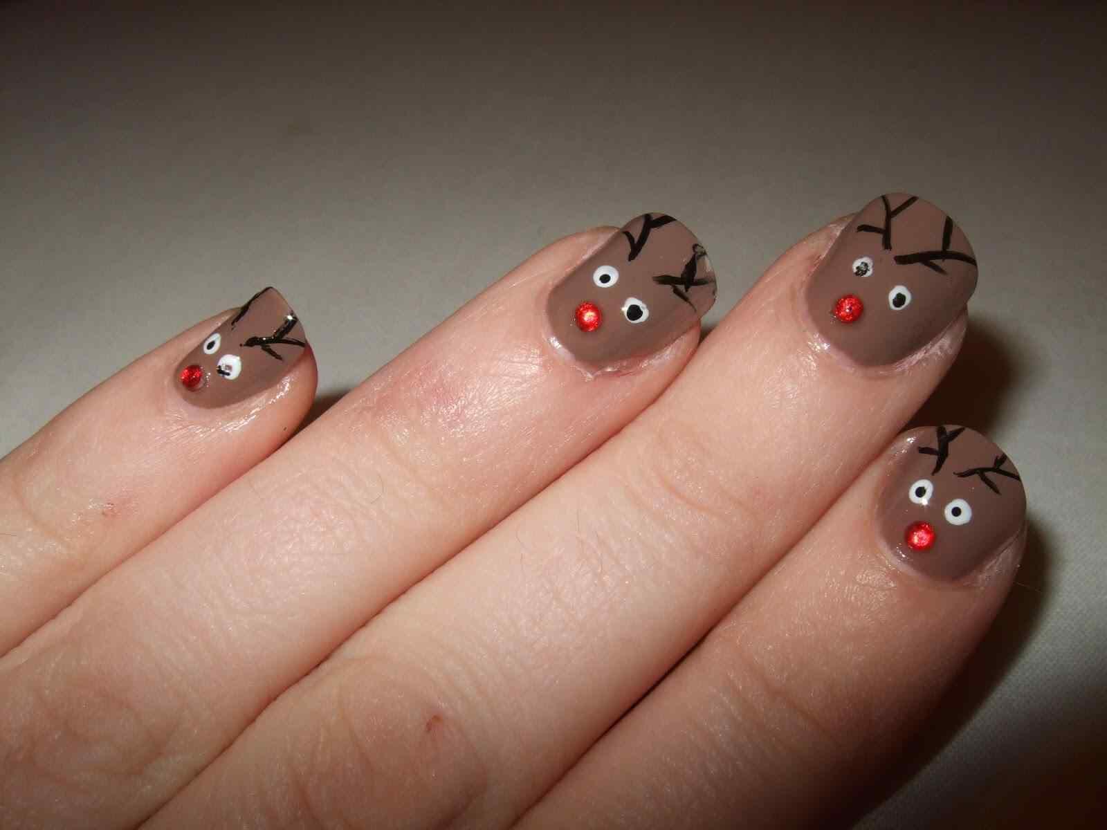 decoracion unas de navidad (1)