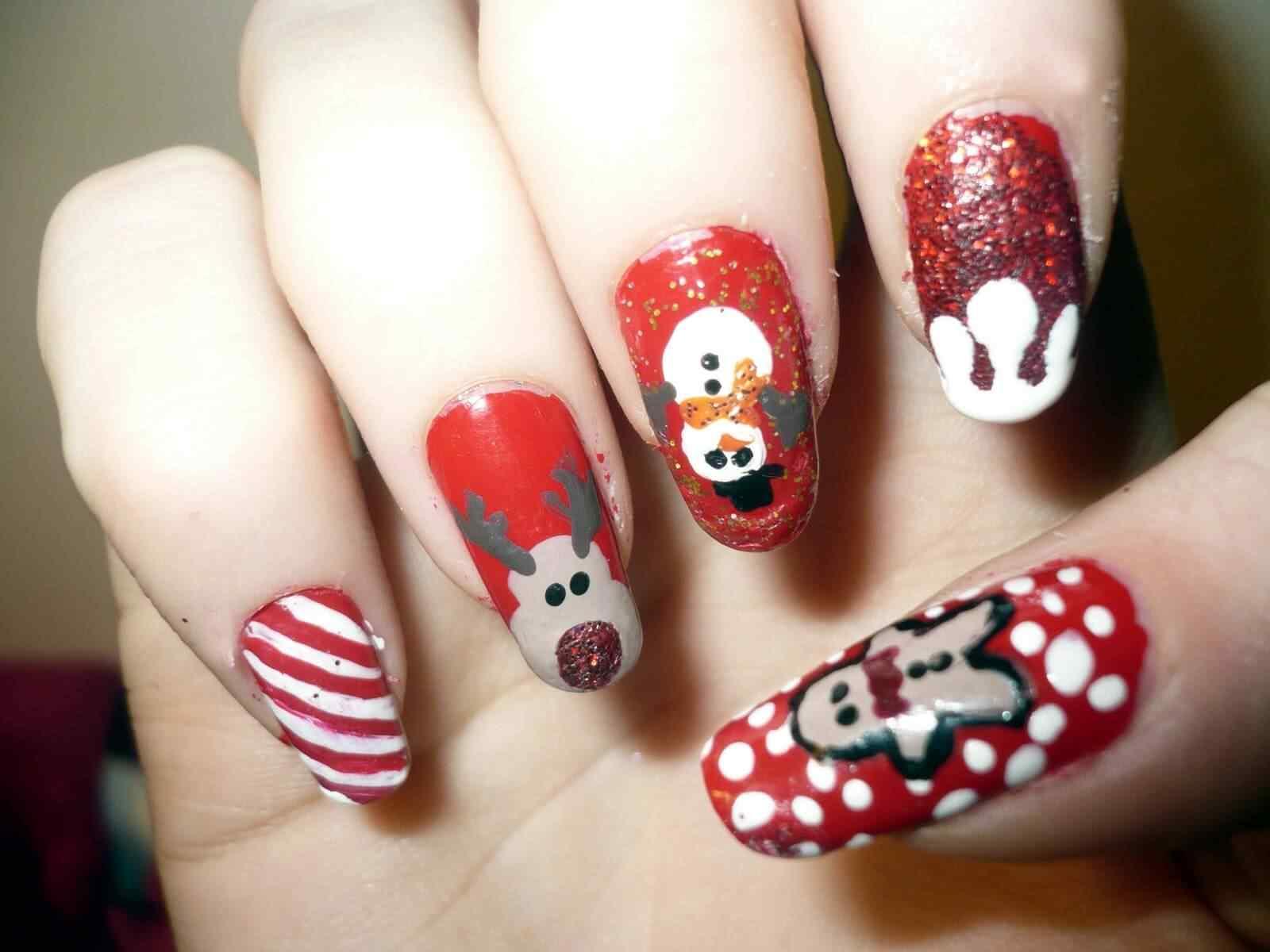 decoracion unas de navidad (2)
