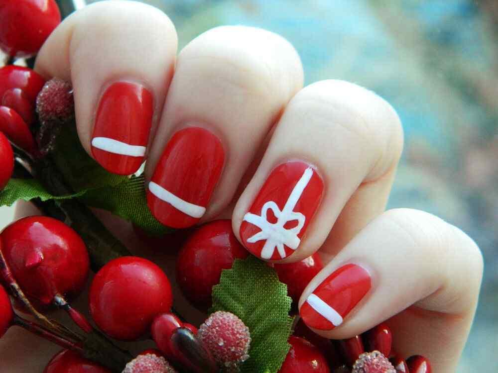 decoracion unas de navidad (5)