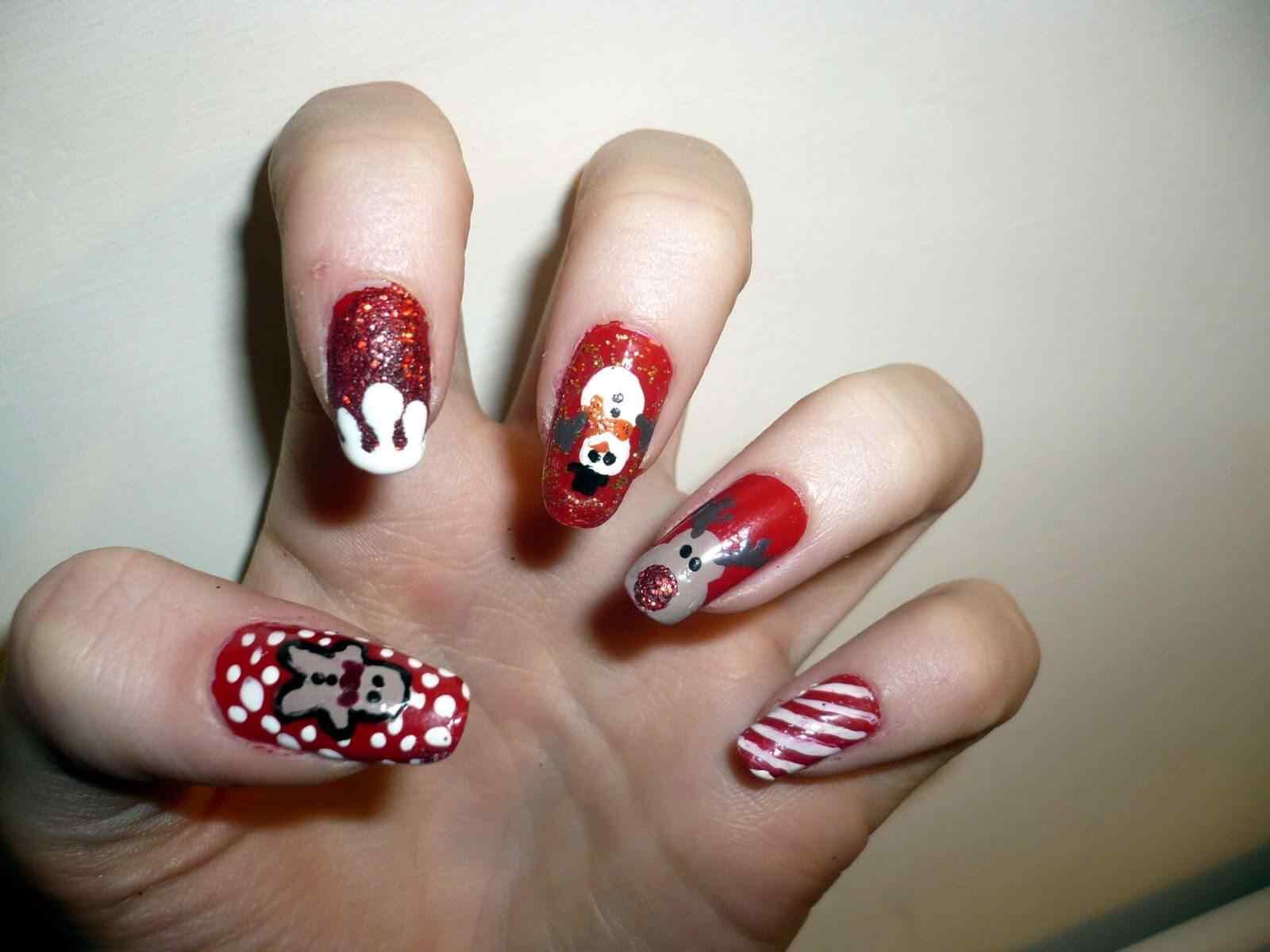 decoracion unas de navidad (7)