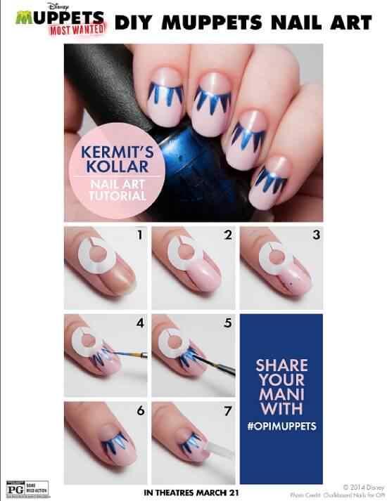 kermit-collar-DIY-nail-art