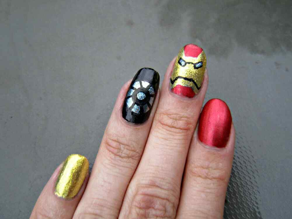 Iron Man Nail Art