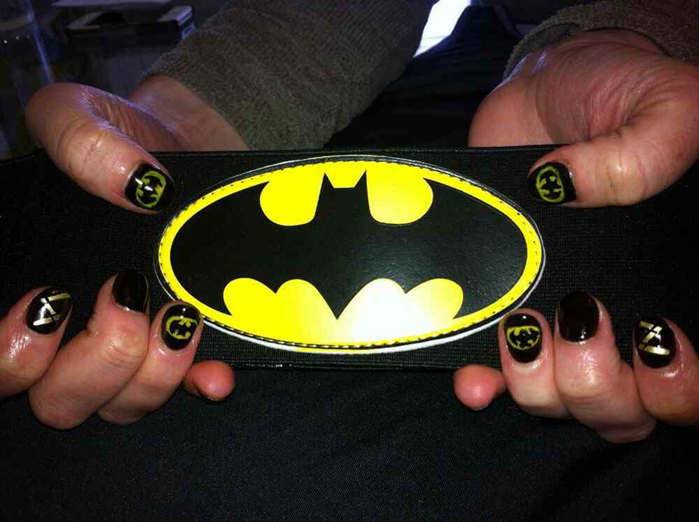 Nail decoration batman