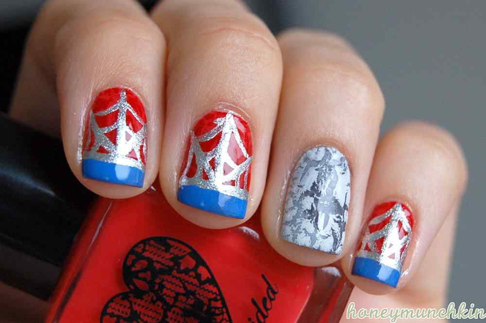 Spiderman nailart