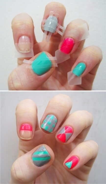 Tecnica uñas geometricas