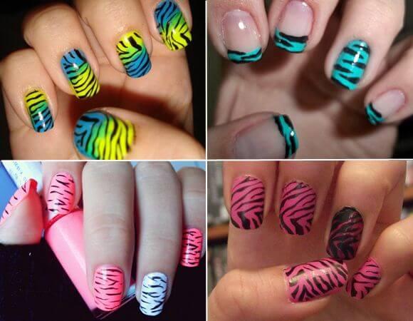 Como pintar las uñas animal print fácil | Decoración de Uñas ...