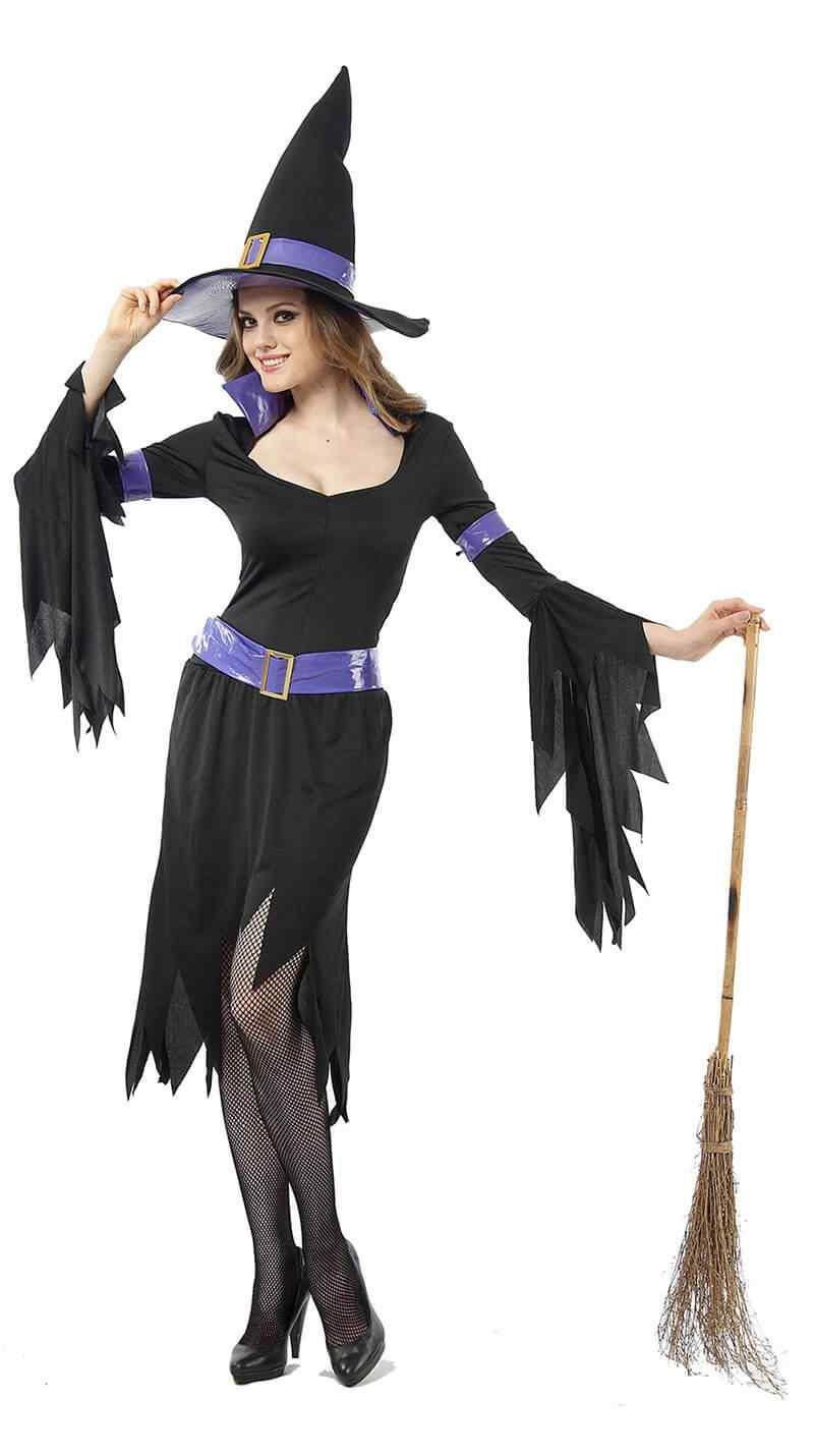 Disfraces-Halloween-para-Mujer-bruja-sombrero