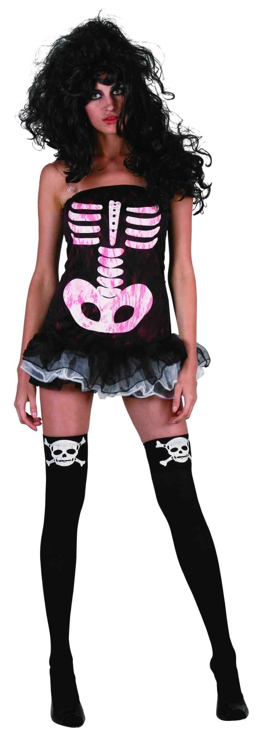 Disfraces Halloween para Mujer calavera rosa