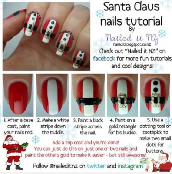 Diseños de uñas para Navidad  Tutorial-paso-a-paso-dise%C3%B1o-u%C3%B1as-cinturon-papa-noel-nail-art