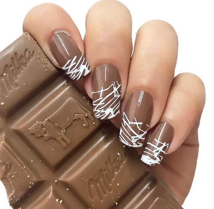 uñas decoradas chocolate