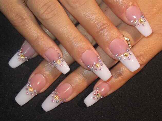 28 fotos de u as decoradas para novias 2014 2015 parte 2 decoraci n de u as nail art - Unas permanentes decoradas ...