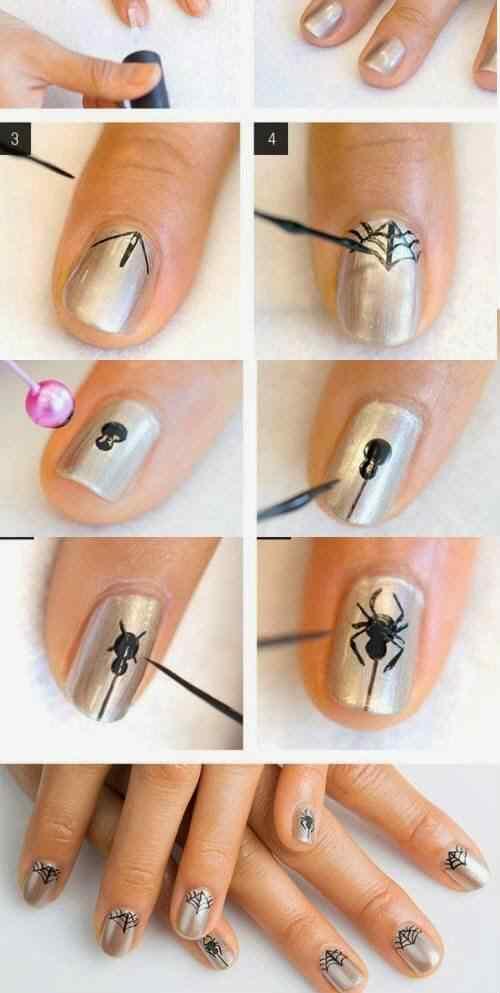 U as decoradas con lindas ara itas u as decoradas nail art for Decorado de unas facil y sencillo
