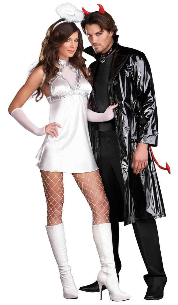 Disfraces halloween parejas diablo angel