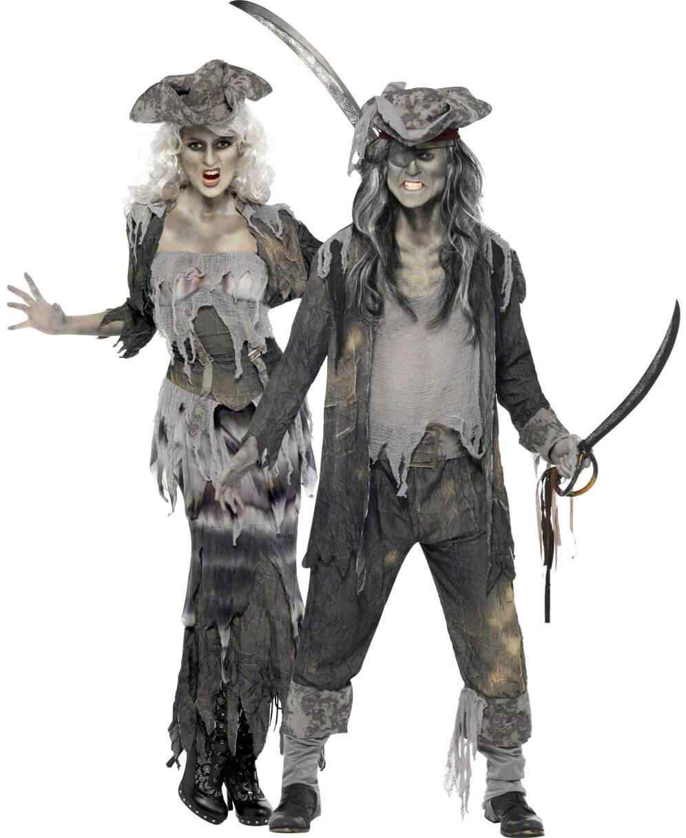 Disfraces halloween parejas piratas zombie