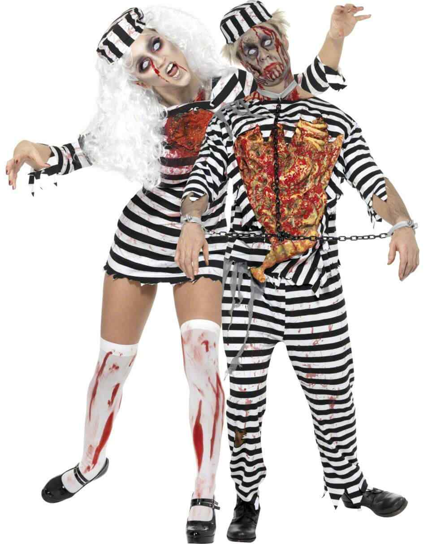 Disfraces halloween parejas preso zombie