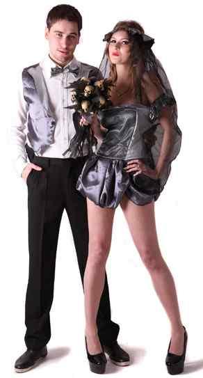Disfraces halloween parejas viuda negra