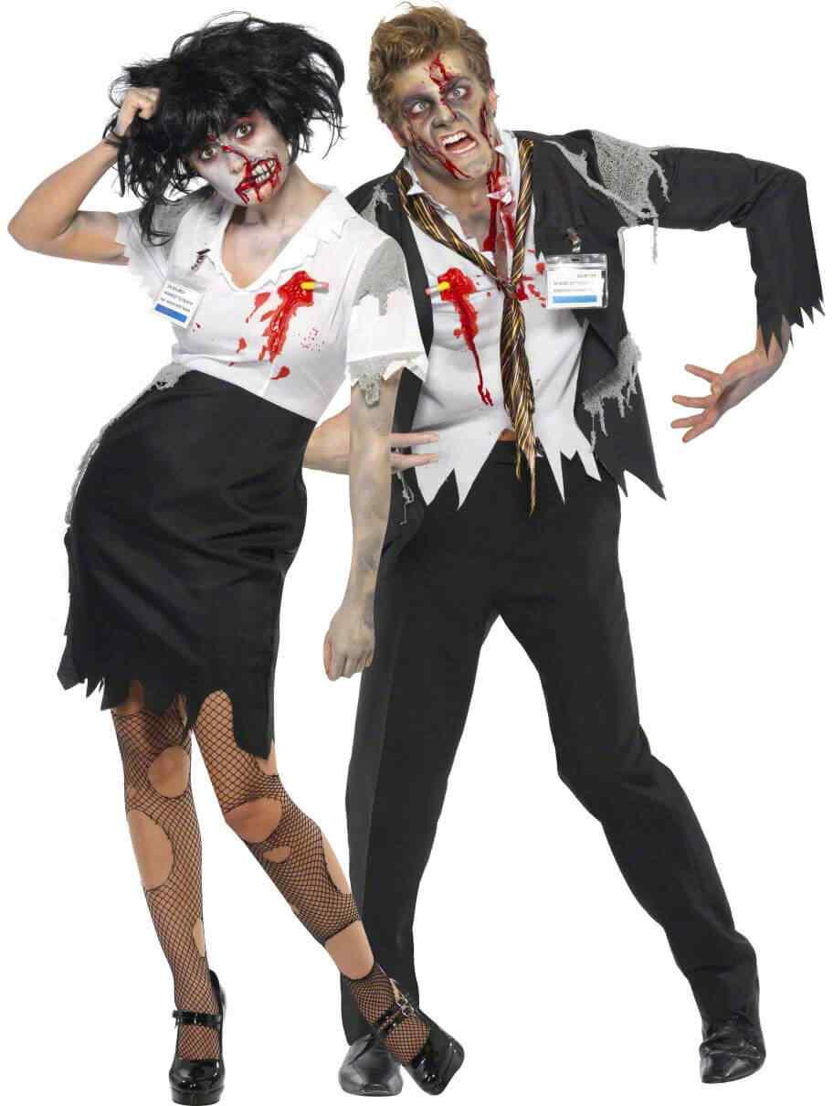 Disfraces halloween parejas zombie