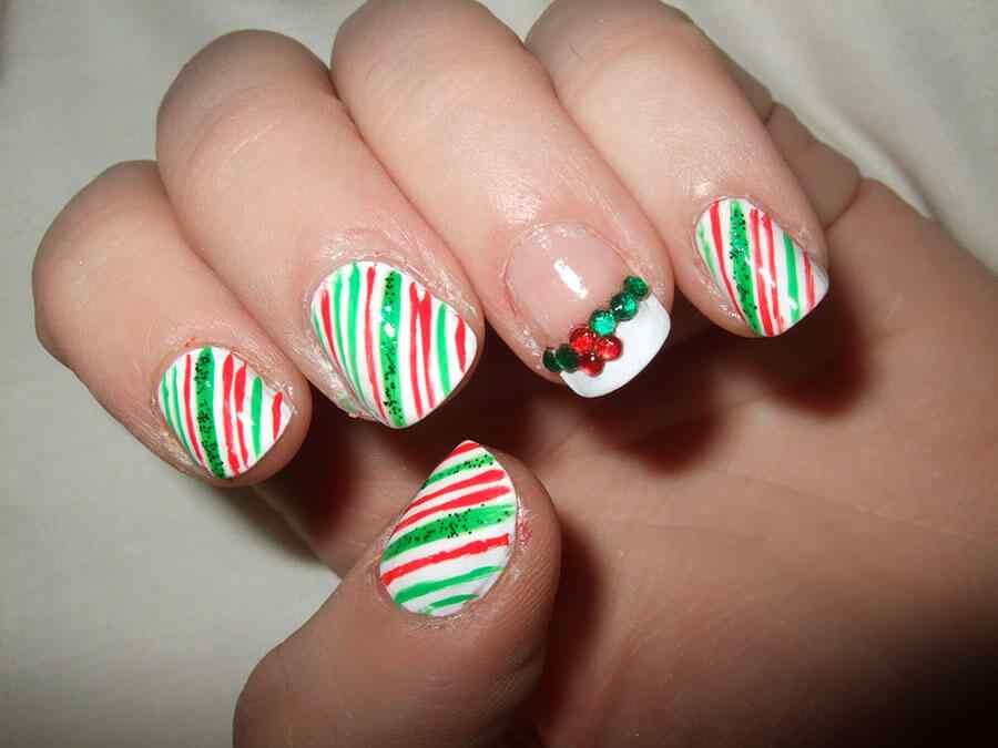 unas decoradas de navidad 2014 (10)