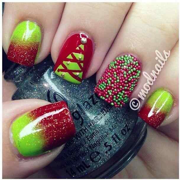 unas decoradas de navidad 2014 (12)