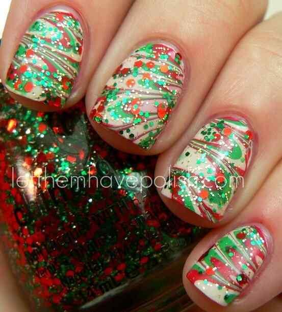 unas decoradas de navidad 2014 (4)