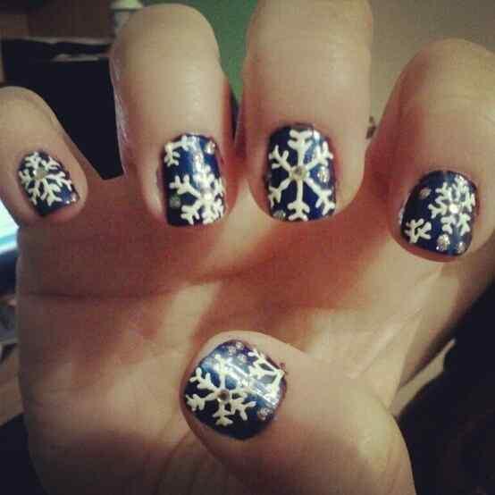 unas decoradas de navidad 2014 (6)