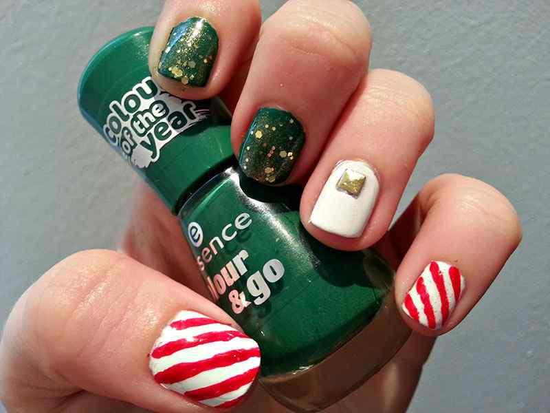 unas decoradas de navidad 2014 (7)
