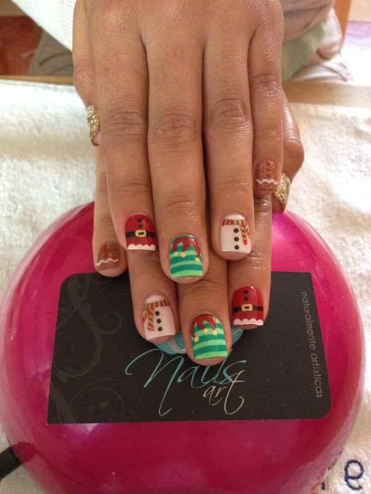 unas decoradas de navidad 2014 (9)