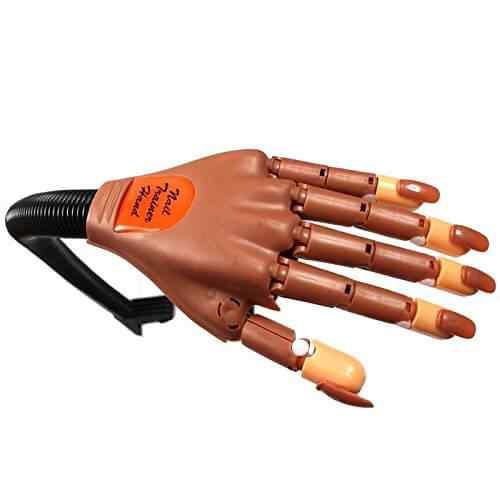 Mano De práctica articulada para pintar uñas - Nail training hand 3