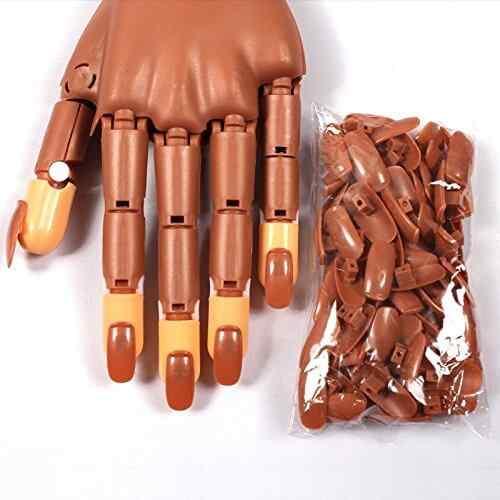 Mano De práctica articulada para pintar uñas - Nail training hand 5