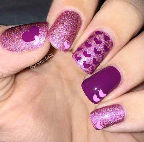 valentines nails nail art (1)