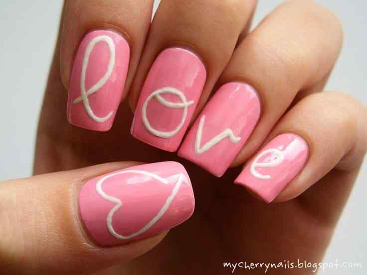 valentines nails nail art (11)