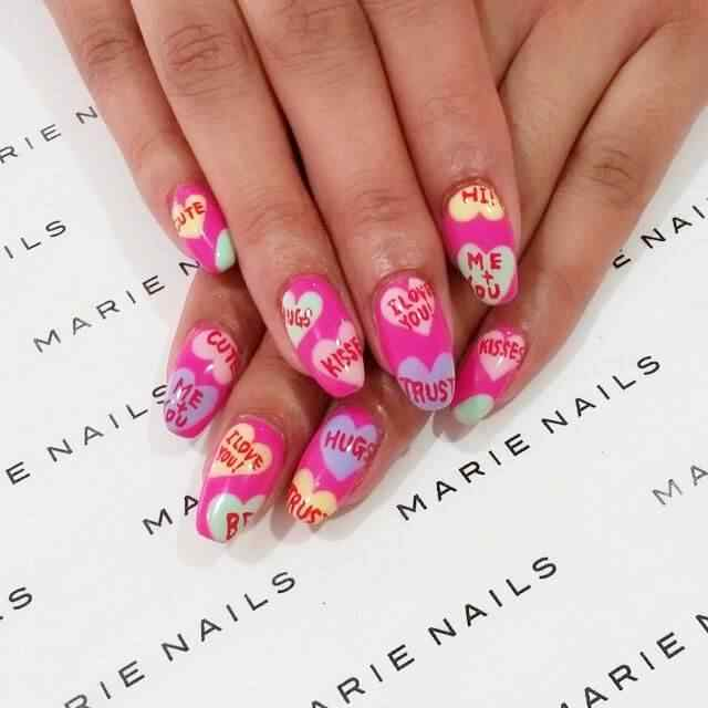 valentines nails nail art (2)