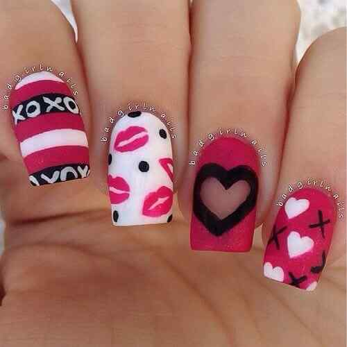 valentines nails nail art (3)