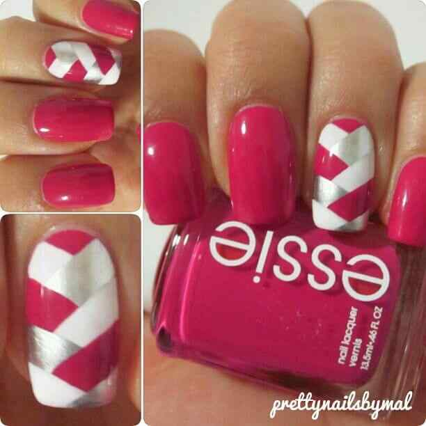 valentines nails nail art (7)