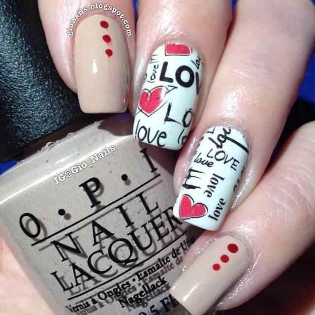 valentines nails nail art (8)